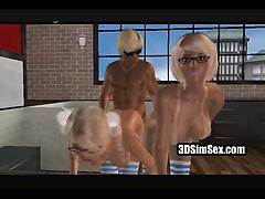 3D Trekant, porr som du aldrig sett det förut!